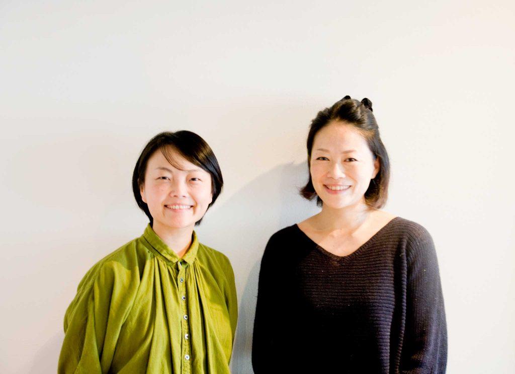 and.スタッフの大賀 美穂(オオガ ミホ)さん(左)とデザイナーの町田 美紀(マチダ ミキ)さん