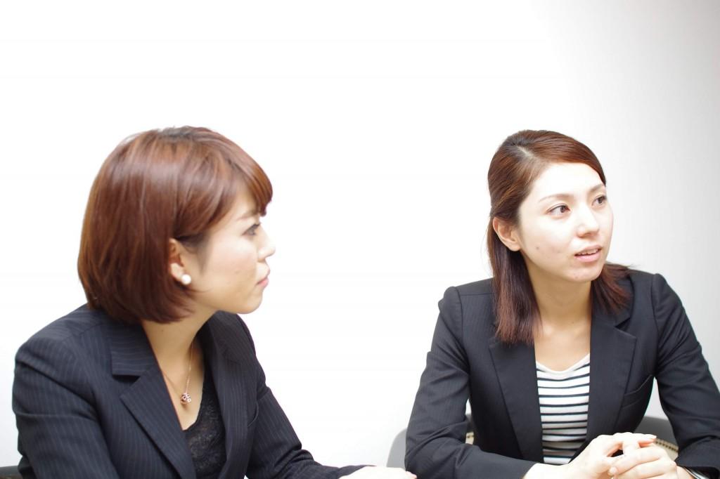 アライヴァル Wedding Plannerの南川裕希さん(左)と杉山えりかさん(右)