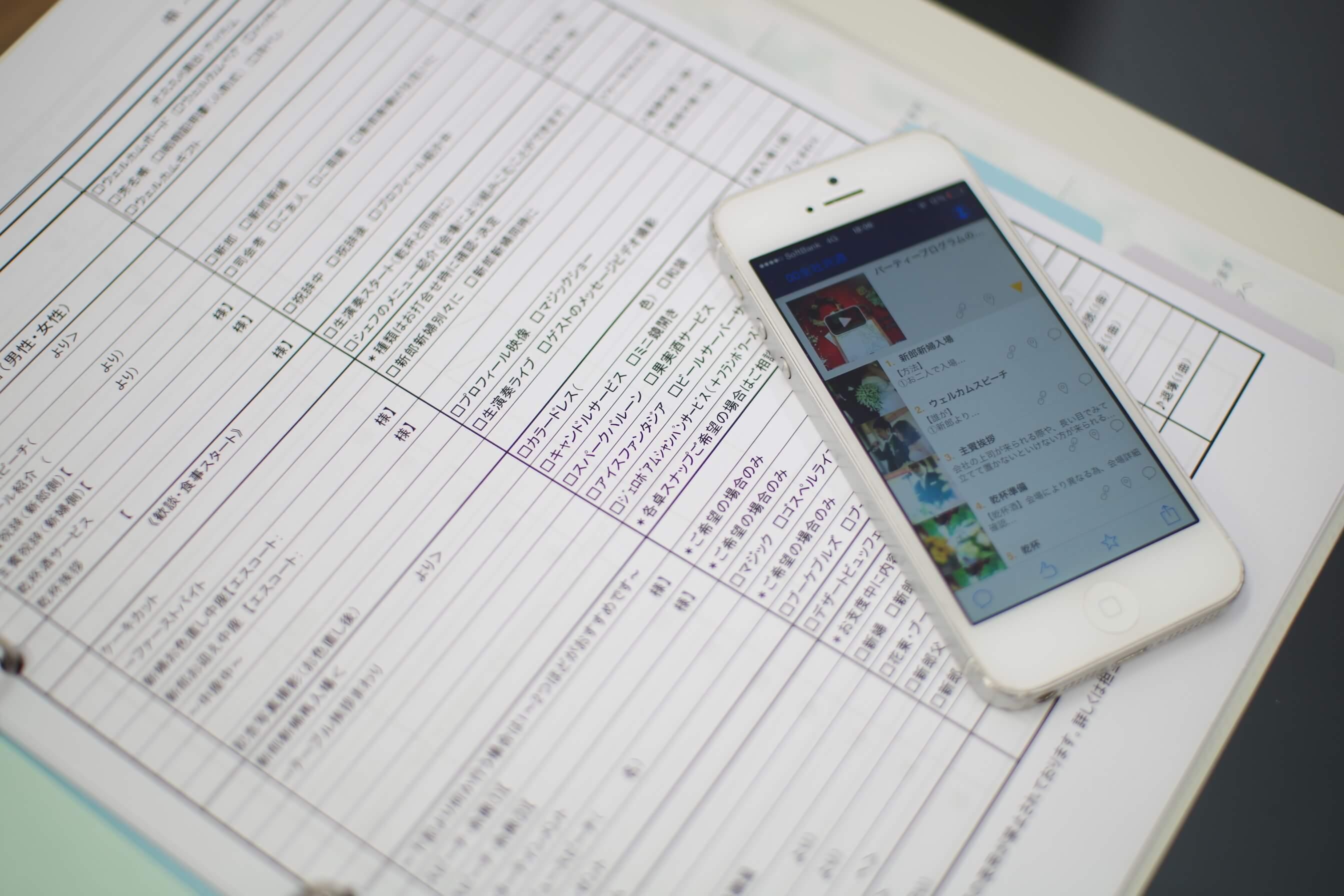アライヴァルにおける活用場面。パーティーの運営は「完璧ファイル」のチェックリストとTeachmeのマニュアルで把握する。