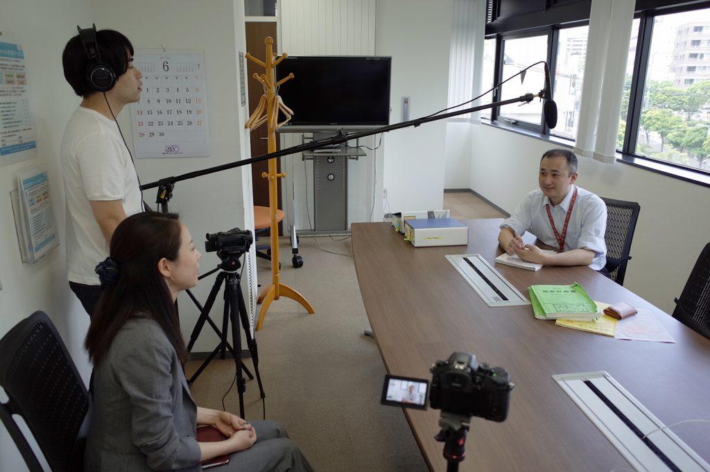 税理士法人古田土会計様のTeachme Bizユーザーインタビューの様子