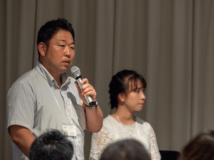 画像:Teachme Bizをより活用するために、今後の課題を話す石井氏