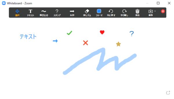 zoomホワイトボード機能の画像